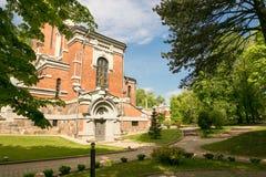 Mir BIAŁORUŚ, Maj, - 20, 2017: Mir kasztel w Minsk regionie Pogrzeb krypta Svyatopolk-Mirsky Data budowa: 1904 Obraz Royalty Free