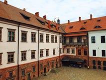 Mir Castle σύνθετο στη Λευκορωσία Στοκ Εικόνες