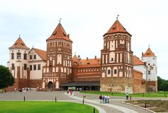 Mir Castle. The medieval Mir Castle in Belarus Stock Photo