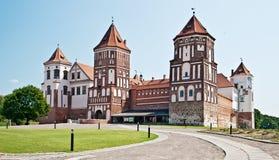 Mir castle. View to Mir castle,  Republic of Belarus Stock Images