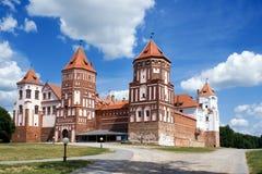 Mir Castle. Grand view to Castle of Mir, Belarus Stock Image