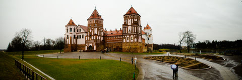 Mir castle in the autumn day Stock Photos
