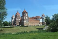 Mir castle Belarus royalty free stock photography