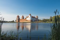 Mir castle Belarus royalty free stock photo