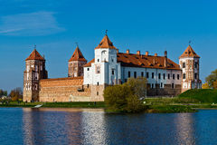 The Mir Castle. In Belarus is famous historical and culture center Royalty Free Stock Image