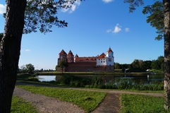 Mir castle in Belarus. Stock Photos