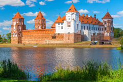 The Mir Castle in Belarus Stock Image