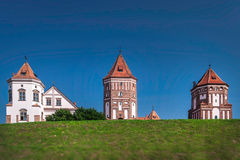 Mir Castle in Belarus. Medieval red Mir Castle in Belarus, one of the most famous attractions of the country Stock Image