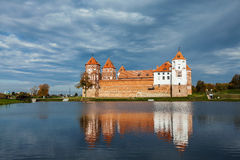 Mir castle in Belarus Stock Images