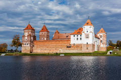Mir castle in Belarus Stock Photo