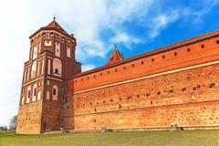 Mir Castle Complex. Belarus Stock Photo
