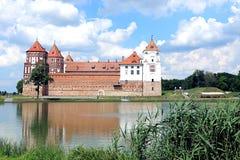 Mir Castle Complex antico in Bielorussia Immagine Stock