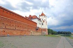 Mir Castle Complex antigo em Bielorrússia Fotografia de Stock Royalty Free