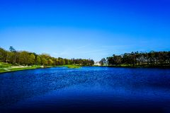 Mir Castle Complex Lake royalty free stock images