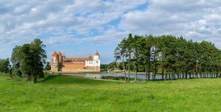 Mir Castle Complex, Wit-Rusland Panorama Stock Foto
