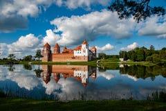 Mir Castle dans la région de Minsk photographie stock