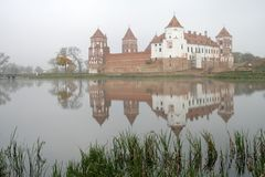 Mir Castle is a fortification and a residence in the town of Mir stock photos