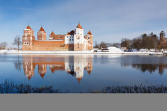 Mir Castle i den Minsk regionen är det forntida arvet av Vitryssland Unesco-världsarv Arkivfoton