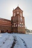 Mir Castle i den Minsk regionen är det forntida arvet av Vitryssland Unesco-världsarv Royaltyfria Foton