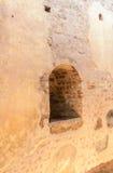 Mir Castle 27. Juli 2015 Das Fenster in der Wand Lizenzfreies Stockfoto
