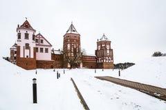 Mir Castle L'hiver photos libres de droits