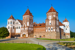 Mir Castle, Medieval  Palace, Belarus Stock Images