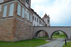 Mir Castle. View of Mir Castlel, Belarus Stock Photos