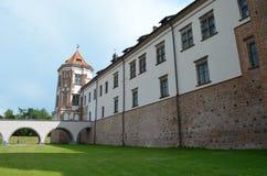 Mir Castle. View of Mir Castlel, Belarus Royalty Free Stock Photos