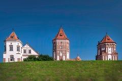 Mir Castle in Weißrussland Stockbild