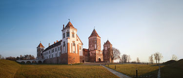 Mir Castle wit-rusland Stock Afbeelding