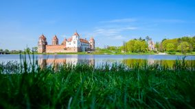 Mir Medieval Castle complex on summer day, historical heritage o royalty free stock image