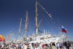 Mir på den högväxta skeppfestivalen Lissabon, Portugal, 2012 royaltyfri bild