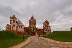 Mir Castle near Minsk, Belarus. Defensive fortification and residence since 1527 stock photos