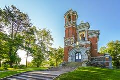 MIR VITRYSSLAND - JUNI 06, 2017 - Kapell-gravvalv Sviatopolk-Mirski på Mir Castle Complex royaltyfria bilder