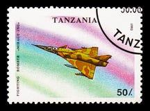 Miraż 3NG, samolotu wojskowego seria około 1993, zdjęcie royalty free