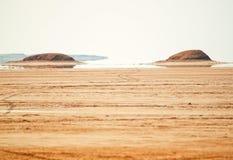 Miraż w saharze, Tunezja zdjęcia stock
