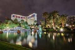 Mirażowy Hotelowy kasyno przy nocą - Las Vegas, Nevada, usa Zdjęcia Stock