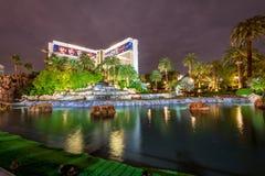 Mirażowy Hotelowy kasyno przy nocą - Las Vegas, usa Zdjęcie Royalty Free