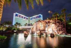 Mirażowy Hotelowy kasyno przy nocą - Las Vegas, usa Obrazy Royalty Free