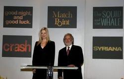 Mira Sorvino and Sid Ganis. BEVERLY HILLS, CALIFORNIA. January 31, 2006. Oscar-winner Mira Sorvino and Academy President Sid Ganis attend the 78th Annual Academy Royalty Free Stock Photos