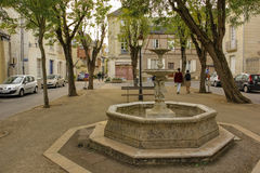 Mirabeau square. Chinon. France Stock Image