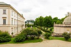Mirabell城堡庭院视图 库存图片