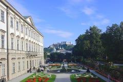 mirabell宫殿公园萨尔茨堡 库存照片