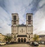Mirabell fyrkant Mirabellplatz i Salzburg, Österrike arkivfoto