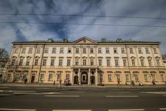 Mirabell fyrkant Mirabellplatz i Salzburg, Österrike royaltyfri bild