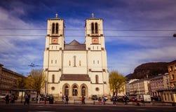 Mirabell fyrkant Mirabellplatz i Salzburg, Österrike arkivfoton