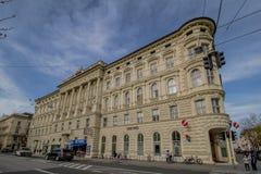 Mirabell fyrkant Mirabellplatz i Salzburg, Österrike royaltyfria bilder