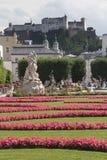 Mirabell Gardens and Hohensalzburg (Salzburg, Austria) Stock Image