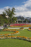 Mirabell Gardens and Hohensalzburg (Salzburg, Austria) Royalty Free Stock Images