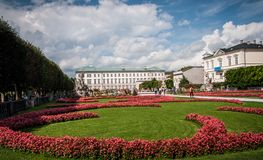 Mirabell Gardens Royalty Free Stock Image